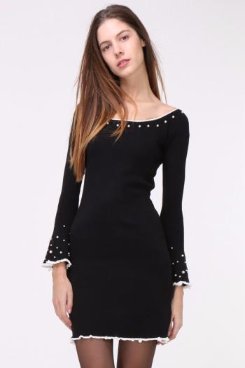 ROBE SUCCESS NOIRE PERLES