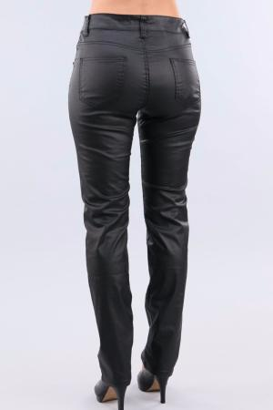 "JEANS TAILLE HAUTE STRETCH ""CUIR"""